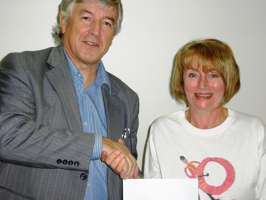 Receiving Cheque from One Community Trust